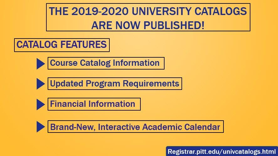 Pitt Academic Calendar.Home
