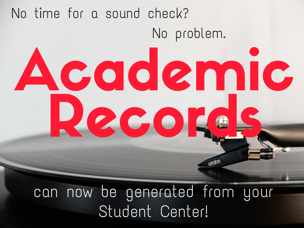 Academic Record - Stucent Center View