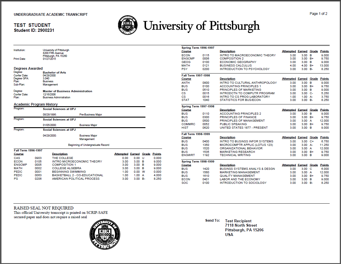 Transcript download images photos and pictures for What does a high school transcript look like