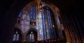 Staing glass inside Heinz Chapel