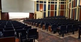 Photo of a large empty auditorium