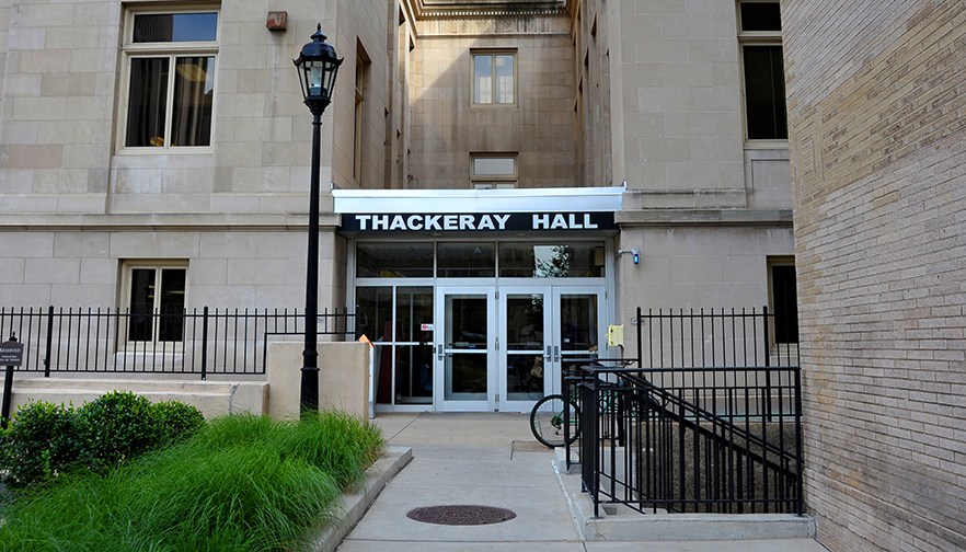 Entrance to Thackeray Hall